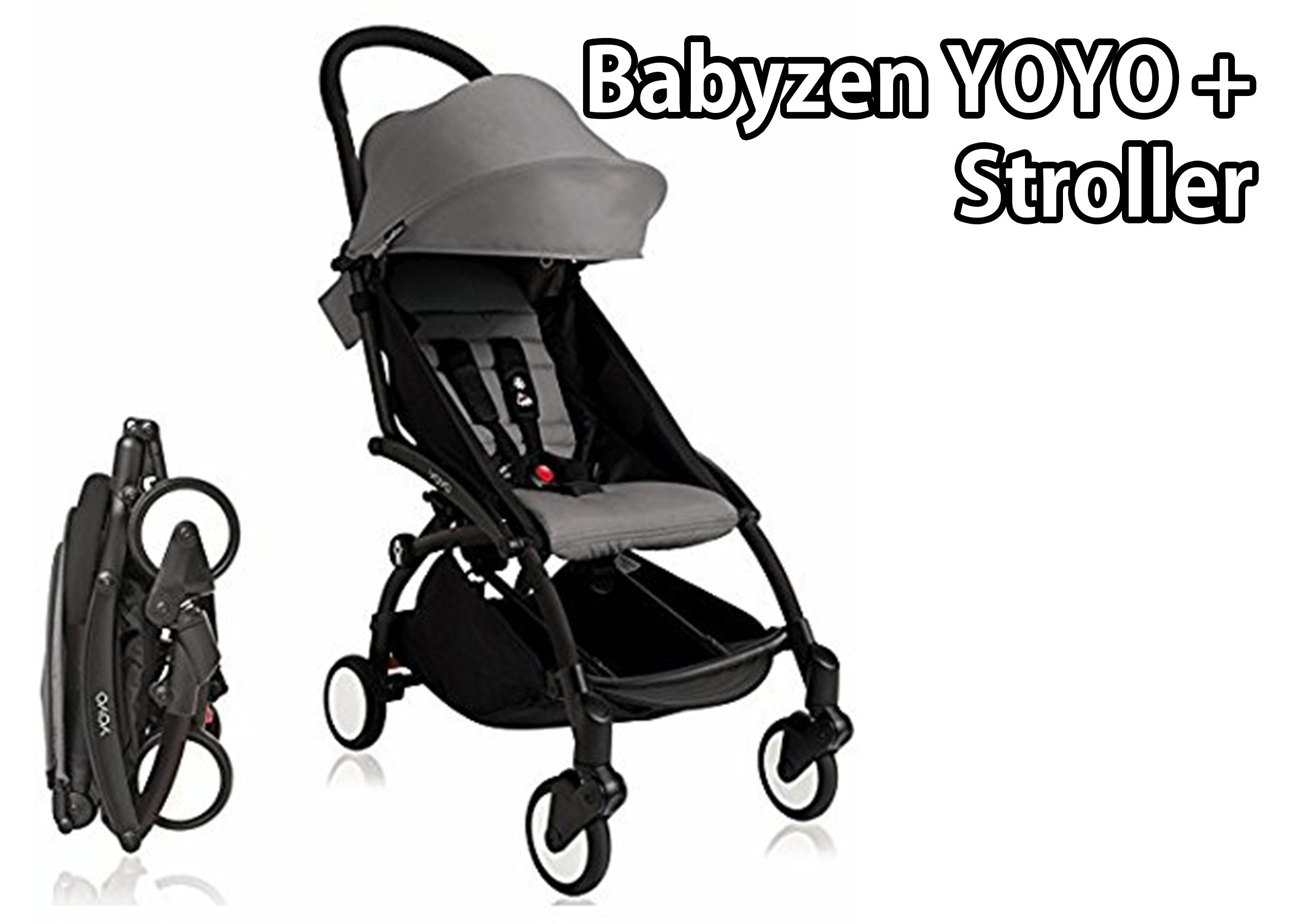 Babyzen YOYO+ Stroller - Black – Grey - The Baby Choice